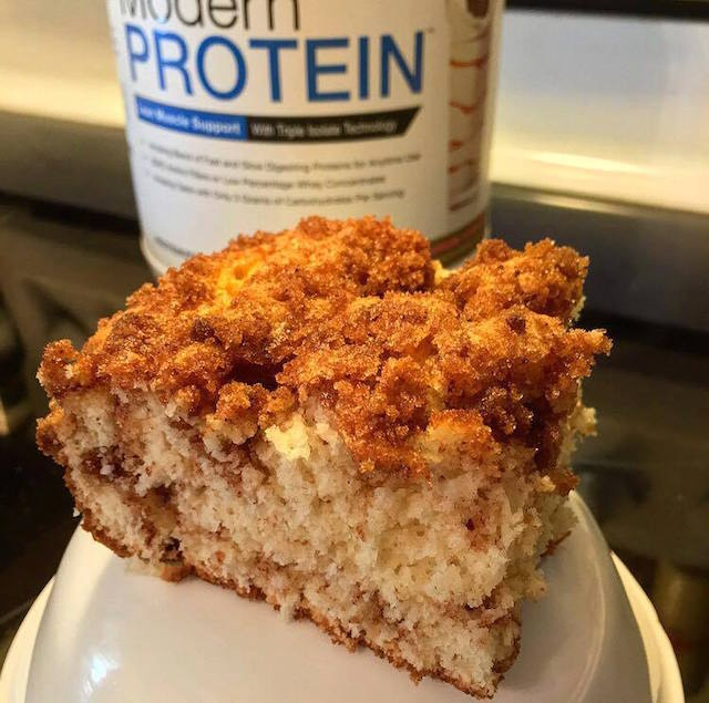 ModernPROTEIN Recipes Bodybuilder Coffee Cake